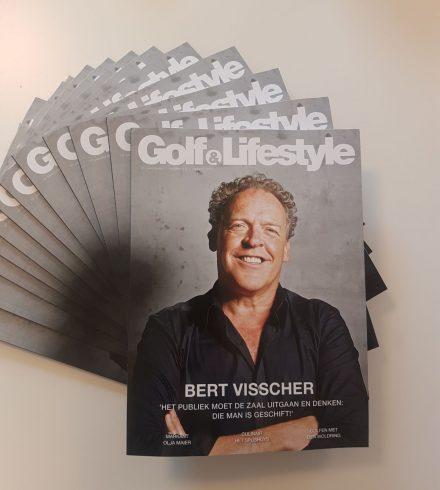 Bert Visscher siert cover najaarseditie Golf & Lifestyle