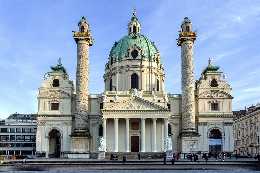 De Karlskirche in Wenen